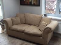 Three 3 seater fabric sofa