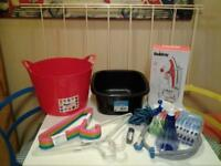 """12 ESSENTIAL """"LAUNDRY"""" ESSENTIALS .. ALL BUT ONE IS 'NEW+UNUSED'"""