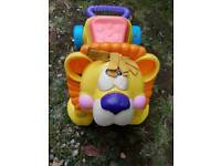Toddler ride on and walker lion