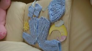 Expecting A Boy? Hand Knitted Outfit (Elora)