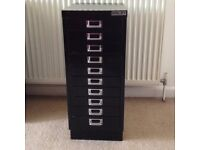 Bisley black filling cabinet with 10 drawers