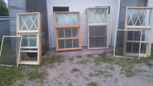 Lot de 9 fenêtres Pin-Alluminium