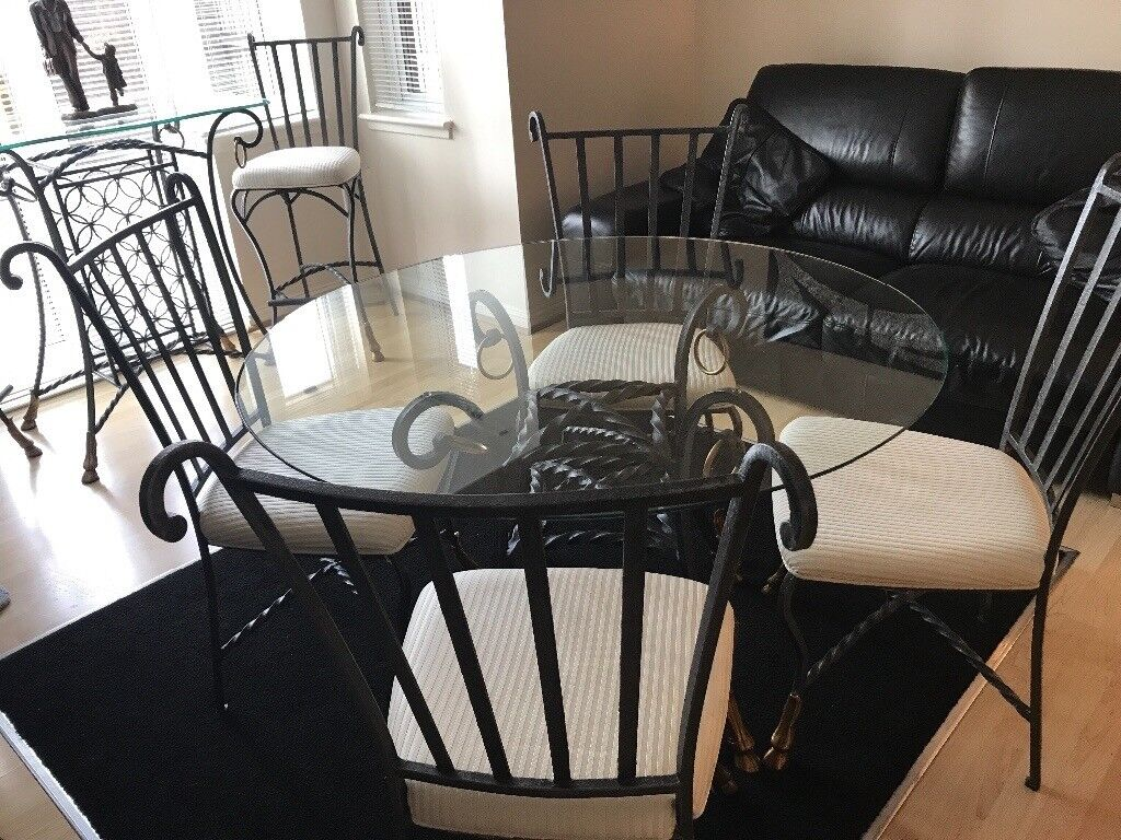 Forrest Furnishings Dining Room Table And Four Chairs Also Wine Bar Two High