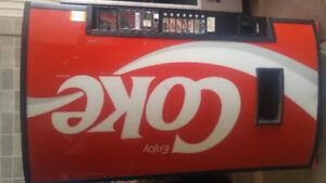 Coke, pop vending machine
