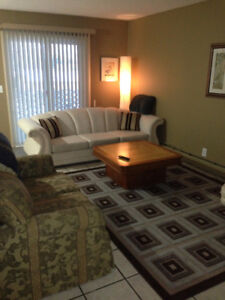Clean Bright Fully Furnished 2 Bedroom Suite bus route to NAIT