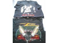 Two vintage ZZ Tops t-shirts