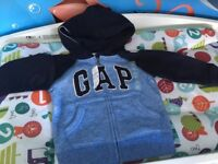 Age 2 Gap blue zip-up hoodie new with tags