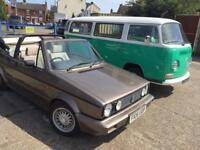 VW Golf MK1 Cabriolet Clipper - Classic Retro Brown Swap