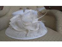 Ladies Cream Occasion Hat