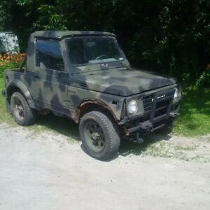 suzuki samurai great off road jeep great for hunting