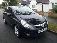 Vauxhall Corsa 1.2 SXI Black 48000 miles 2008 57 reg 5 Door Long MOT New Shape Must Be Seen