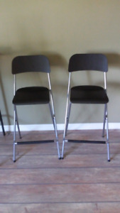 Ikea folding bar height chairs