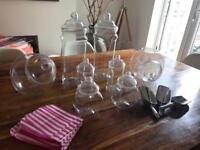 Plastic sweet jars, tongs and bags -bundle - wedding events