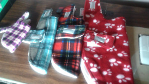 fleece dog coats/neck scarves