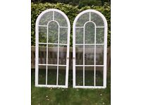Pair Neo-classical style cabinet/display case doors