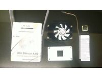 boxed and unused Gelid Slim Silence AM2 1U heatpipe AMD cpu cooler 28mm height for htpc micro atx