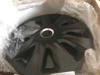 Black wheel trims