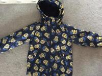 BOYS NEXT SHOWER COATS MINIONS & CARS