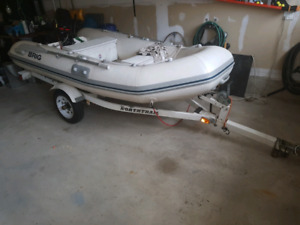 BRIG 12' inflatable boat on trailer