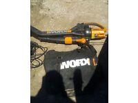 Worx leaf blower, mulcher
