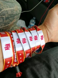 Boots and hearts full event wristbands