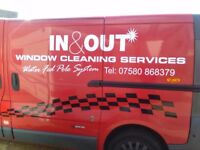 In & out window cleaning services swadlincote Burton areas
