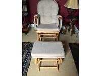 ROCKING CHAIR WITH MATCHING ROCKING FOOTSTOOL