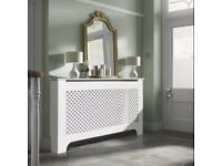 BRAND NEW AND BOXEDRICHMOND LARGE WHITE PAINTED RADIATOR COVER (RRP £75)