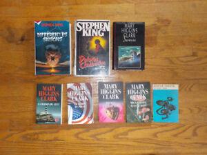 Lot de 8 livres Mary Higgins Clark Stephen King Agatha Christie