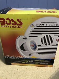 "Boss 5.25"" marine speakers"