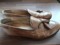 MENS CROCKETT & JONES CAVENDISH BROWN LOAFERS SIZE 11E. STUNNING CONDITION