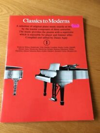 Piano - Classics to Moderns Grade 1