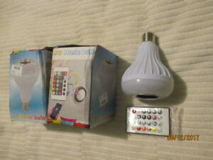 How COOL Is This!! LED Lightbulb with Built in Bluetooth Speaker