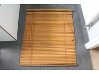 Good quality wooden blind, purchased from John Lewis 80cm wide 94cm drop.