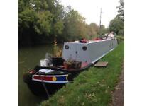 63' Narrowboat tug, barge
