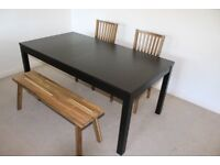 Table with or without 3 chairs