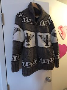 Wool jacket with thunderbird design