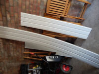 White plastic hollow soffit boards, skirting board and melamine board for sale!