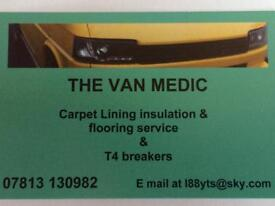 """The Van Medic"" carpet lining service"