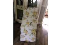 Dunelm floral double quilted throw