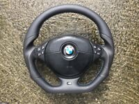 BMW M3 M5 E46 E39 NEW FLAT BOTTOM CUSTOM MADESTEERING WHEEL