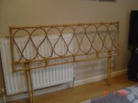 Cane / Bamboo Headboard for a Double Bed. Plus Cane / Bamboo Furniture. Can Deliver.