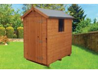 Mangham Apex Treated Timber Tongue & Groove Garden Shed 8ft x 6ft £399 Inc Delivery & Installation
