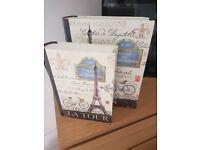 Paris style storage boxes