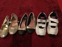 Girls shoes and trainers bundle size 1