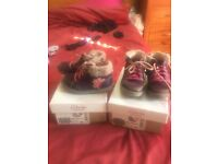 Toddler clarks shoes x2 twins size 6