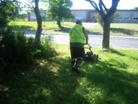 mowing lawns and yards