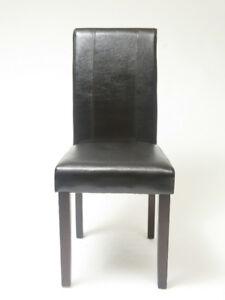 Chaise table à diner en cuir noir neuf jamais utiliser