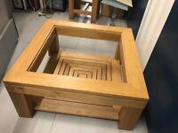 Solid oak coffee table - £110