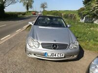 MERCEDES 320 CLK AMG CONVERTABLE SILVER 2004 3.2 TURBO
